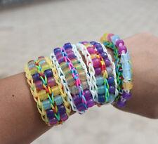 250Pcs UV Color Changing Magic Pony Beads Loom Rubber Bands Bracelet Wristband