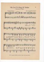 WHERE WESTERN LIGHTS-1938 Vintage UNIVERSITY OF WYOMING song sheet LARAMIE