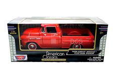MotorMax 1958 Chevy Apache Fleetside Pickup Orange 1/24 Diecast Cars 79311OR