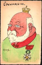 Kénavo. Edouard VII. Aquarelle originale vers 1900