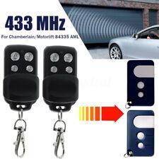 2x Handsender Fernbedienung 433MHz Für Chamberlain/Motorlift 84335 AML CR550/ML