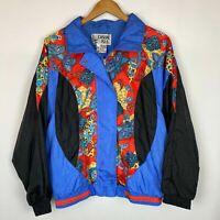 Vintage Retro Windbreaker Casual Isle Women's Track Jacket Bright Colorful