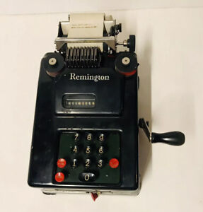 Vintage Remington Rand Hand Crank Adding Machine USA Bookkeeping Accounting
