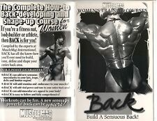 MUSCLEMAG Women's Training Course BACK bodybuilding muscle booklet 1997
