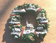 Holiday Thomas Kinkade 2005 Christmas Village Lighted Wreath