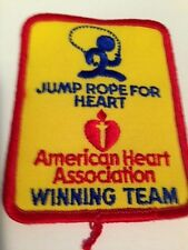 Vintage Jump Rope For Heart embroidered Patch