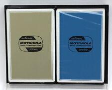 2 Sealed Decks w Case MOTOROLA Radio Playing Cards