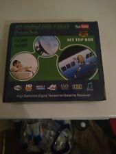 1080P DVB-T2+DVB-S2 FTA Tuner Smart Digital Satellite TV Receiver BoxTOP Set New