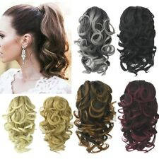 Natural Real Thick Ponytail Clip On In Human Hair Extension Claw Pony Tail Hair