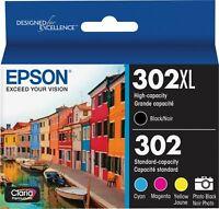 Epson 302 Xl Black / Color Standard Capacity Ink  C/M/Y/PB 5 pack Bulk