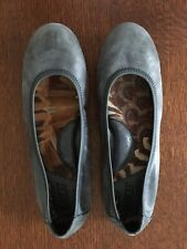 Born Women's Blue Leather Slip On Ballet Flats Shoes Size 7/38 - EUC