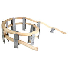 Wooden Trains Railway Set Accessories Spiral Track Building Kits Playset