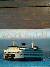 BEAUTIFUL MARK 4 CLASS SHIP PUGET SOUND POST CARD WASHINGTON STATE FERRIES