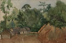 Watercolor-África-around 1923-unknown artist-study by a Cat also