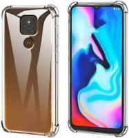 For Motorola Moto E7 Plus Clear Case Slim Armour Shockproof Gel Phone Case Cover