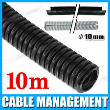 10mm 10m Split Loom Conduit Cable Management Convoluted Tubing Wire 10 Metres