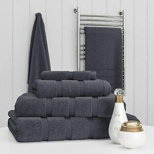 Towel Set 100% Egyptian Cotton Charcoal Towel Bale 550 GSM Bathroom 6 Piece Sets