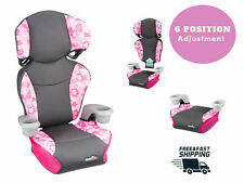 BOOSTER CAR SEAT, Safety Travel Toddler Kids Chair Highback Sport Girls  2-In-1