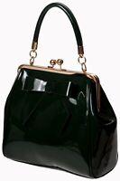 Green Retro American Vintage 50's Rockabilly Shiny Handbag Bag BANNED Apparel