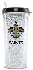 New Orleans Saints Crystal Freezer Tumbler with Straw - 16oz [NEW] NFL Cup Mug