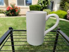 Tall Ceramic Mug Coffee Cup - Bisque Home Decor