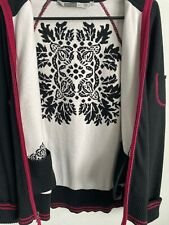 Womens Berry/Black Large ZIP-Up Athleta Nordic Sweater