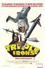 TRIPLE IRONS Movie POSTER 27x40 David Chiang Lung Ti Chung Wang Lei Cheng Feng