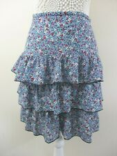 Evans 3 tier ra-ra skirt size 22 ditsy print blue mix floral casual party