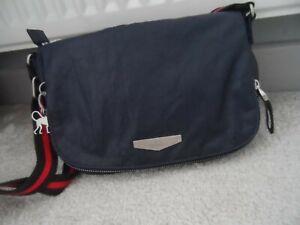 Kipling navy blue handbag with silver hardware
