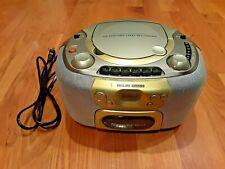 Vintage Philips Boombox AZ-1112/17 CD Radio Cassette Player Recoder