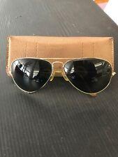 554806352606 Vintage Ray Ban BL Gold Tone Shooter Sunglasses F17