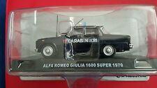 DE AGOSTINI EDICOLA MODEL CARABINIERI ALFA ROMEO GIULIA 1600 SUPER 1970 1/43