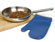 NORPRO Oven Mitt Glove Baking Cooking Double Sided For Right and Left Hand Blue