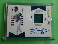 Justin Dunn 2020 PANINI ABSOLUTE JERSEY SIGNATURES PW ROOKIE JERSEY AUTO /99