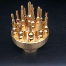 "1"" Inch 3 Layers Fountain Nozzle 17 Sprinklers Spray Head Pond Pool Brass"