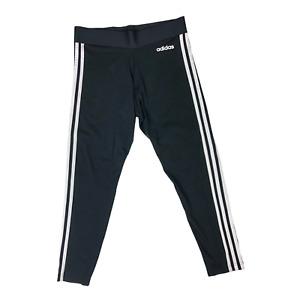 Adidas Women's Size M Essentials 3-Stripes Tights White Cotton Blend