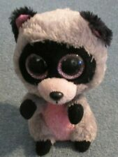 "Ty Beanie Boo Rocco the Racoon Glitter Eyes 6"" Tall VGC Free Shipping"