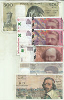 FRANCE LOT 6 DIFF NOTES 1030 FRANCS. SPECIAL OFFER. 8RW 11MAR