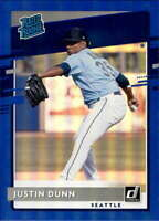 2020 Donruss Holo Blue #41 Justin Dunn Seattle Mariners Rookie