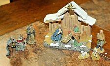 SET OF 10 - 2003 HAWTHORNE VILLAGE LIGHT UP CHRISTMAS VILLAGE ACCESSORIES