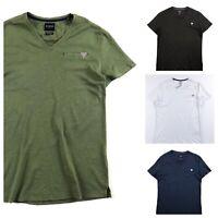 Guess T Shirt Men's Super Slim Fit Crew Neck Blue Black White Lime M01I24J1300