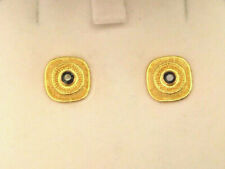 22K & 18K Yellow Gold Bikakis & Johns Etruscan Sapphire Earrings - RARE