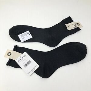 Free People Dolci Sheer Crew Socks 2 Pairs of Black One Size Shimmery New NWT