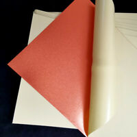 5stk A4 Doppelseitig Klebstoff Papier Sheets Bronze Gold Film Sticker DIY Bastel