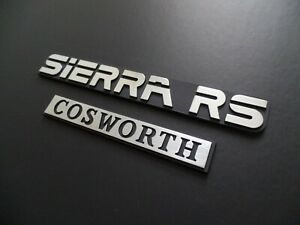 Ford Sierra RS Cosworth Sapphire metal boot badges