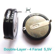4F 5,5V - 4 Farad Double-Layer SuperCap  Lötfahnen für horizontale Printmontage