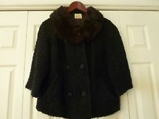 """Fur Collar Vintage Boucle Jacket by """"Styled by Winter"""" Size Medium"""