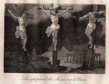 GRAVURE RELIGION / LES SEPT PAROLES DU MESSIE SUR LA CROIX