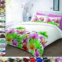 Duvet Cover Sets With Pillow Cases King Size Double Super Single Luxury Printed