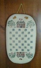 Decorative FolkArt CHECKERBOARD Wall Plaque/Hand Stenciled - Vintage 1986